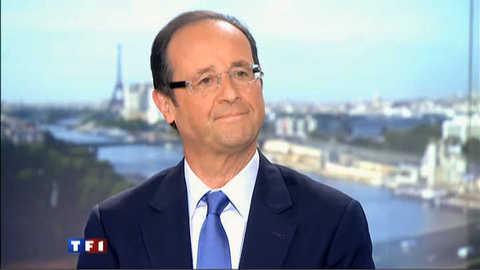 """Hollande au 20h : """"je veux être le candidat de la victoire"""""""