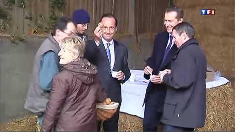 Hollande à la conquête de l'électorat agricole