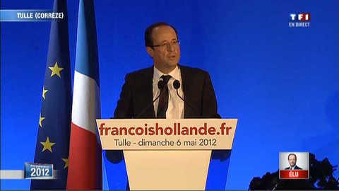 """Hollande envoie un """"salut républicain"""" à Sarkozy"""