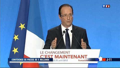 Hollande s'exerce aux conférences de presse