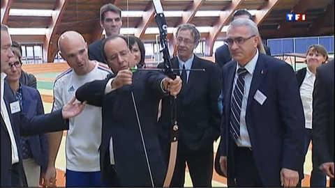 Hollande rencontre les athlètes sélectionnés pour les JO