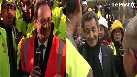 Hollande et Sarkozy en campagne pour 2012: cherchez la différence...