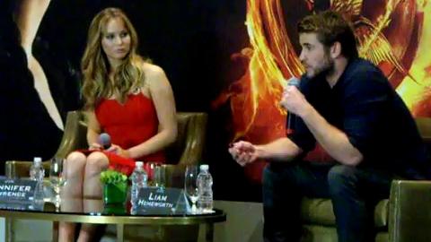 Hunger Games - Conférence de presse avec Jennifer et Liam à Mexico
