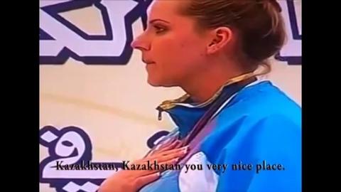 L'hymne parodique du film Borat diffusé par erreur lors d'une remise de médailles