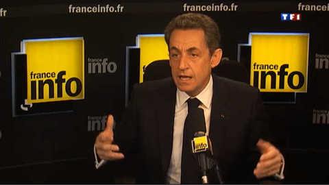 """Il n'y aura """"pas d'accord avec le Front national"""", affirme Sarkozy"""