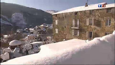 L'île de Beauté sous la neige