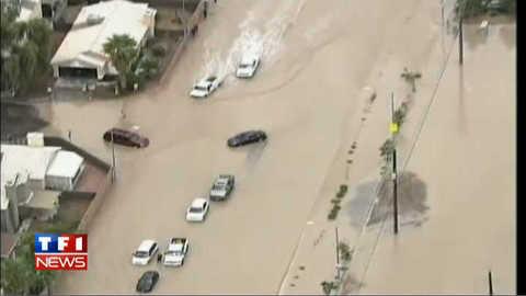 Images impressionnantes de Las Vegas sous les eaux