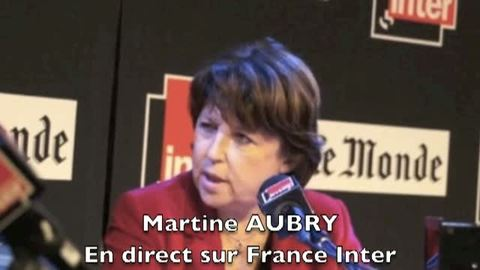 Incident en direct avec Martine Aubury sur France Inter