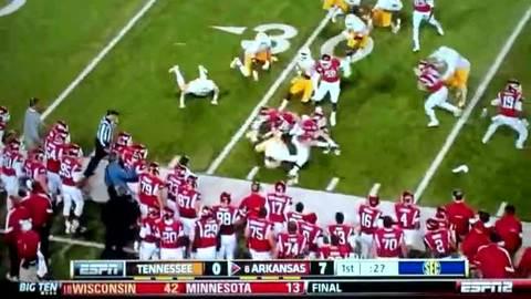 Incroyable contre-attaque lors d'un match de football américain