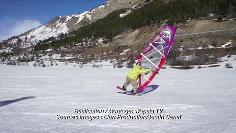 Insolite : windsurf sur neige avec Justin Denel !