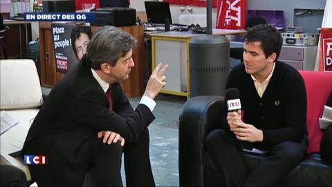 Jean-Luc Mélenchon face aux lecteurs de Metro