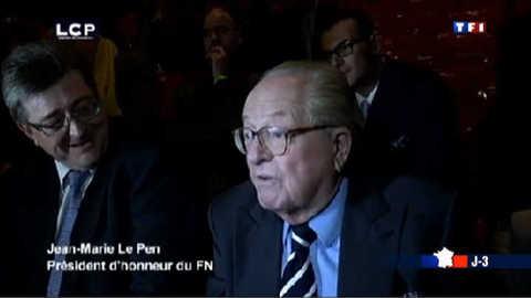 Jean-Marie Le Pen lie les initiales de Nicolas Sarkozy à national socialisme