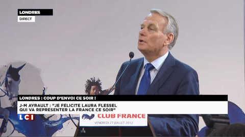 """Jeux Olympiques : """"Laura Flessel va bien représenter la France"""", pour Ayrault"""