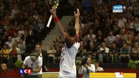 Jo-Wilfried Tsonga vainqueur de Del Potro à Vienne