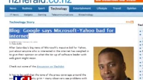 Le journal du web du 5 février : Microsoft/Yahoo: le web réagit au mariage de l'année