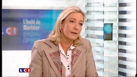LCI - Marine Le Pen est l'invitée politique de Christophe Barbier