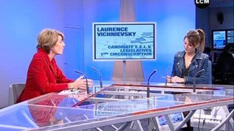 Législatives: Laurence Vichnievsky en campagne (Marseille)