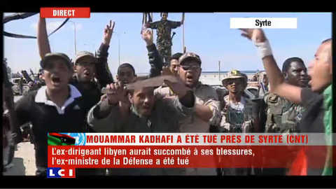 Libye : scènes de liesse à Syrte à l'annonce de la mort de Kadhafi