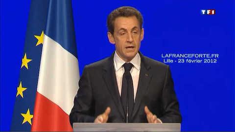 À Lille, Sarkozy s'adresse à la France qui travaille