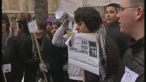 Manif des prof de Vitry-sur-Seine devant l'Assemblée