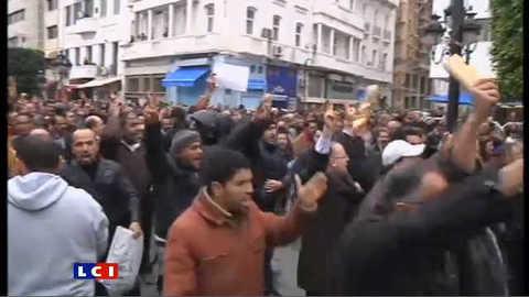 Manifestation contre le nouveau gouvernement tunisien : les images