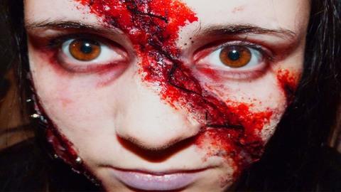 Maquillage Effets Spéciaux : Visage Recousu