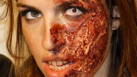 Maquillage Effets Spéciaux : Brûlure sur babillages.net, Bloggeuse : Capucine Piot