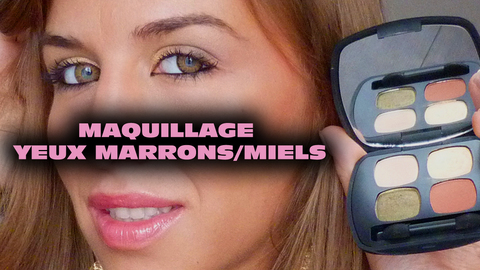 Maquillage Yeux Marrons/Miels