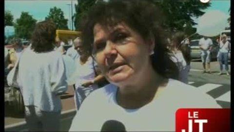 Marche blanche contre les remises de peine (Evian)