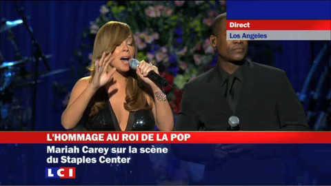 Mariah Carey sur la scène du Staples Center
