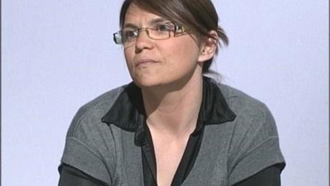 Marie Savre en soutien à Nathalie Arthaud (Clermont)