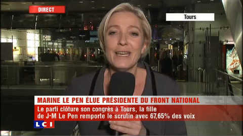"""Marine Le Pen et le FN """"nouvelle génération"""""""