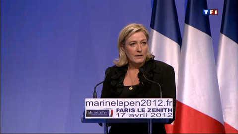 Marine Le Pen survoltée en meeting au Zénith