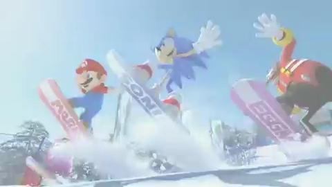 Mario et Sonic aux Jeux Olympiques d'Hiver - Trailer - E3 2009 - Wii
