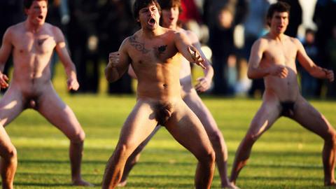 Match de rugby nu en Nouvelle Zélande