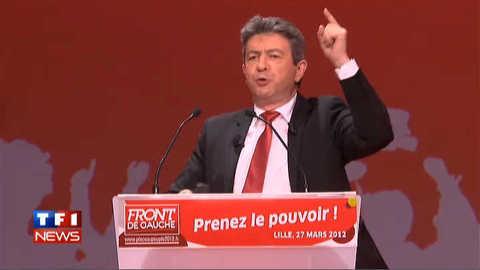 """Mélenchon évoque """"le front du peuple"""""""