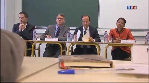 Le message de confiance de Hollande aux enseignants