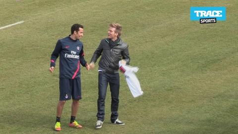 Michel Telo rend visite au PSG