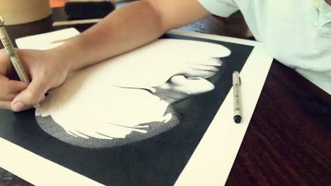 Miguel Endara a dessiné son père avec 3,2 millions de petits points