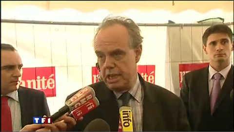 Mitterrand chahuté