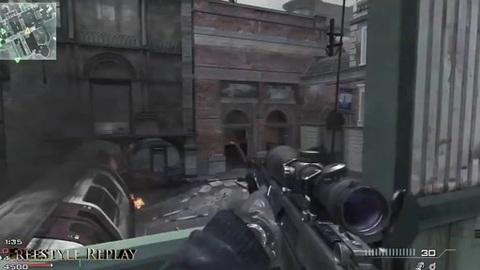 Modern Warfare 3 - Sniper gameplay + First Killcam Ever on mw3 : Call of duty
