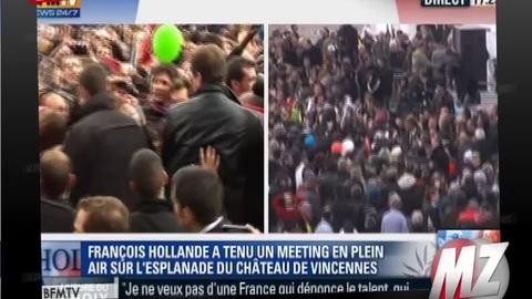 Morandini Zap : Bain de foule de François Hollande après son meeting de Vincennes