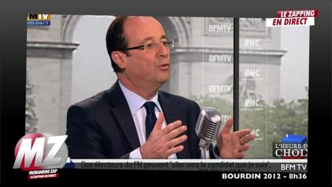"""Morandini zap : Bourdin repose la question à F.Hollande """"Y'a-t-il trop d'immigrés?"""""""
