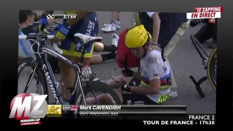 Morandini zap : chute peloton de tête Tour de France