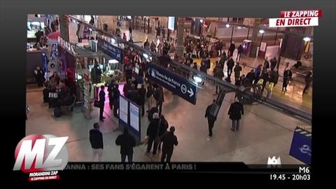 Morandini Zap : Cohue à la gare du nord lors de l'arrivée de Rihana