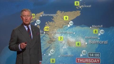 Morandini Zap/Ecosse: Le prince Charles présente la météo sur la BBC