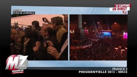 Morandini Zap: François Hollande provoque la cohue à son arrivée place de la Bastille