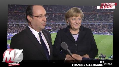 Morandini zap : Hollande et Merkel au match de foot...
