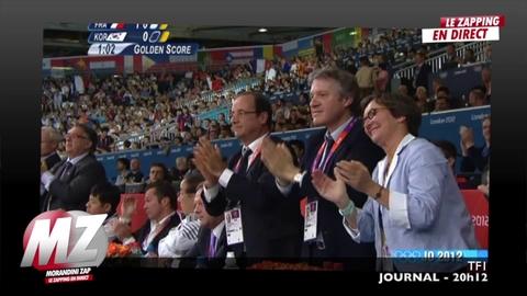 Morandini Zap-JO 2012: François Hollande en visite à Londres aux côtés des sportifs français