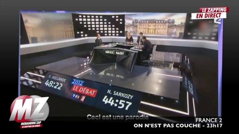 Morandini Zap / Laurent Ruquier parodie des images exclusives du débat entre Hollande et Sarkozy